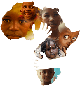 Compassion for Africa Logo in collage of children's faces
