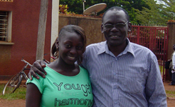 Pastor Joseph Mulungi with his daughter Esther